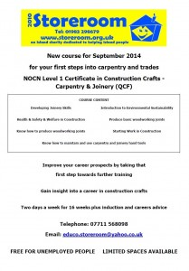 Carpentry Learner Poster Sept 2014