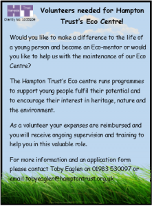 Hampton Trust Volunteer advert