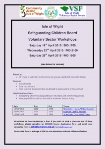 VSF Workshops Flyer image
