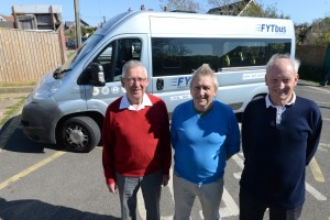 Community Action Awards 2015. The West Wight's FYT Bus, from left, Michael Craig, John Daniels and Adrian Harris.